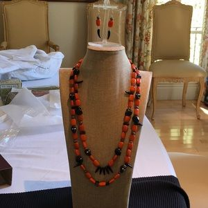 Designer's One of A Kind Halloween Theme Necklace & Earrings